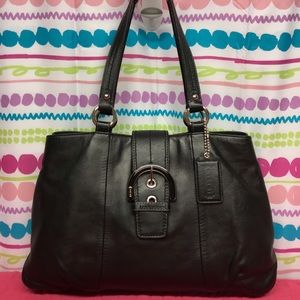 COACH SOHO EAST WEST LEATHER TOTE/SATCHEL BAG